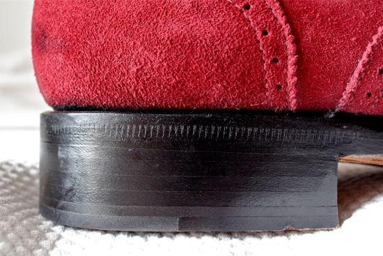 scarosso burgundy suede shoe