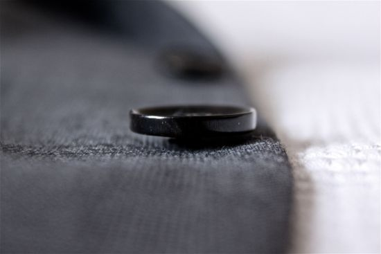 Black Lapel review jacket button