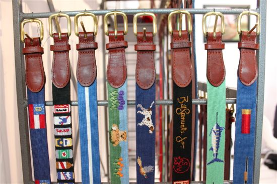 Smathers & Branson: Needlepoint Belts, Caps, Key Chains & Wallets Home › Smathers & Branson: Needlepoint Belts, Caps, Key Chains & Wallets The year was when young Peter Smathers and Austin Branson were college roommates who both received needlepoint belts from their girlfriends.