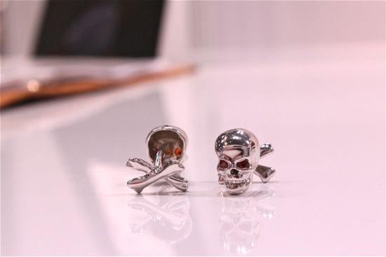 rotenier skull and crossbone cufflinks