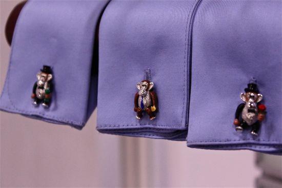 jan leslie monkey cufflinks