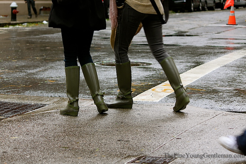 hurricane sandy street style boots