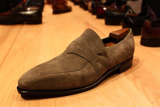 corthay grey suede shoe