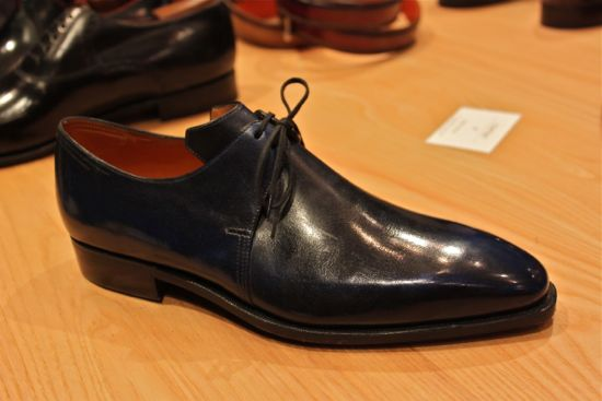 pierre corthay navy blue shoes