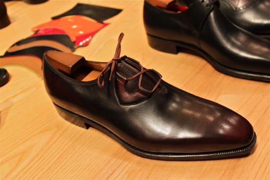 corthay oxblood wholecut shoe