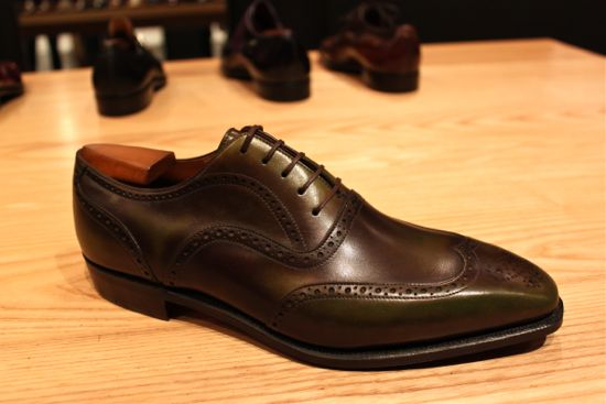 corthay olive green shoes