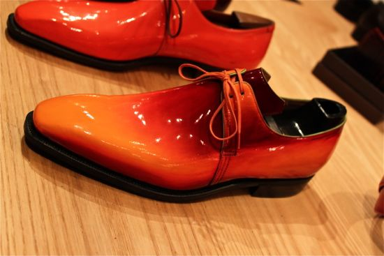 corthay orange leather shoe