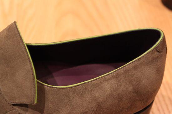 pierre corthay grey suede shoe