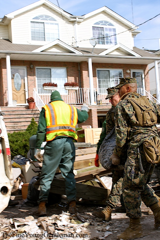 hurricane sandy relief us marines