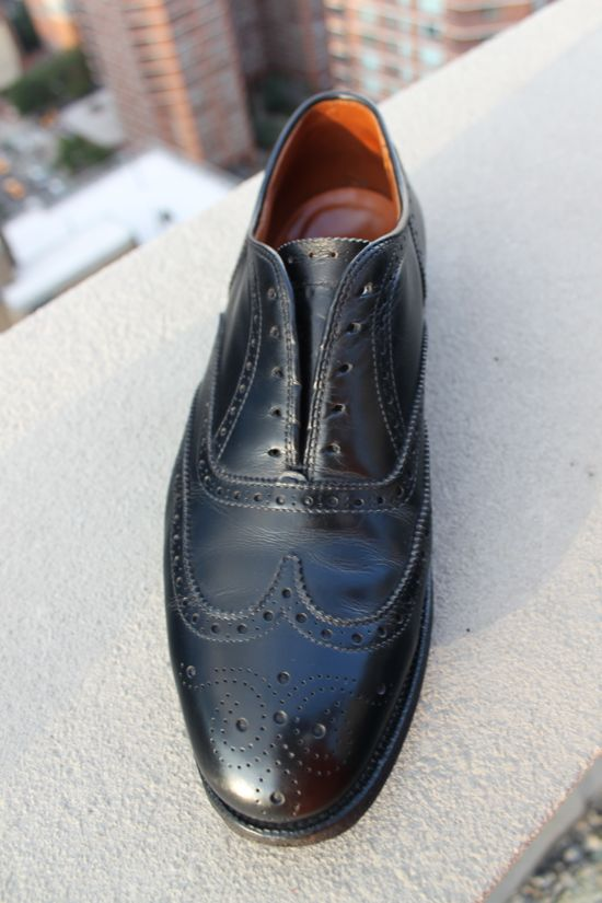 alden black shoes