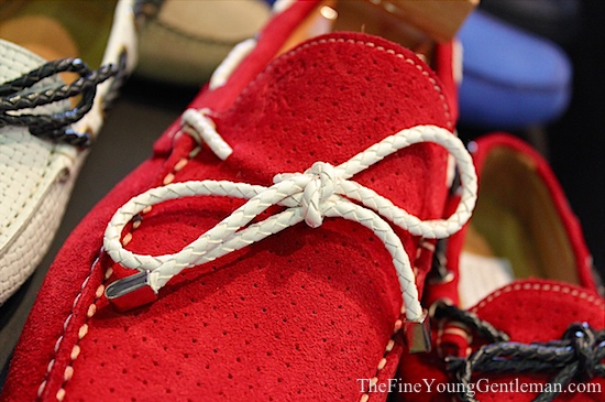 red suede driving shoes