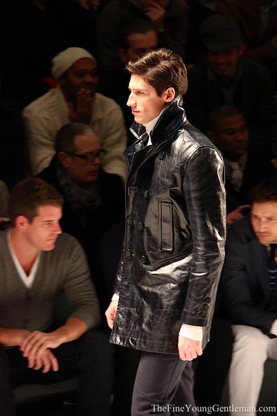 nautica shiny leather jacket