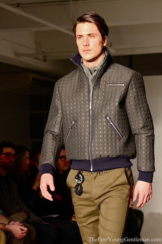 marlon gobel neoprene bomber jacket