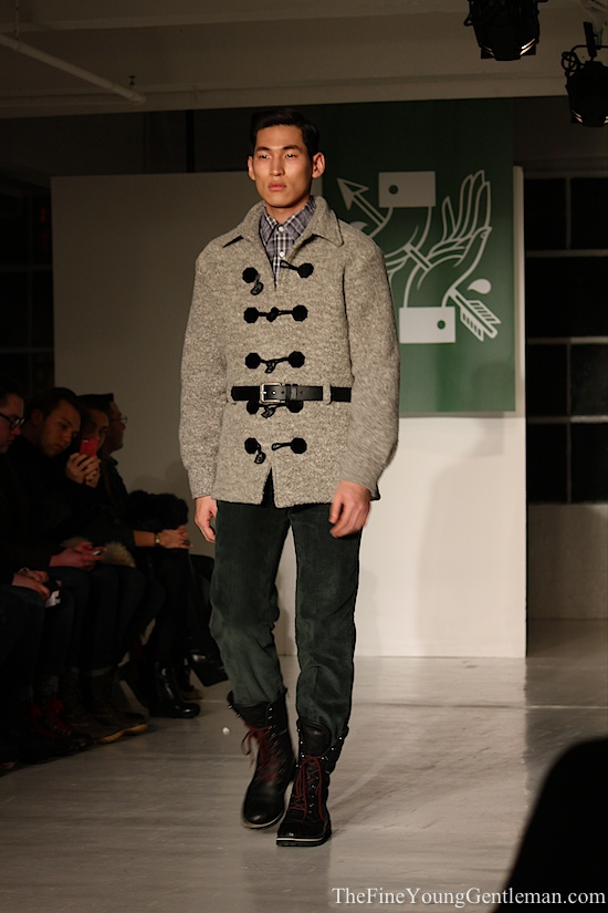 gray toggle jacket