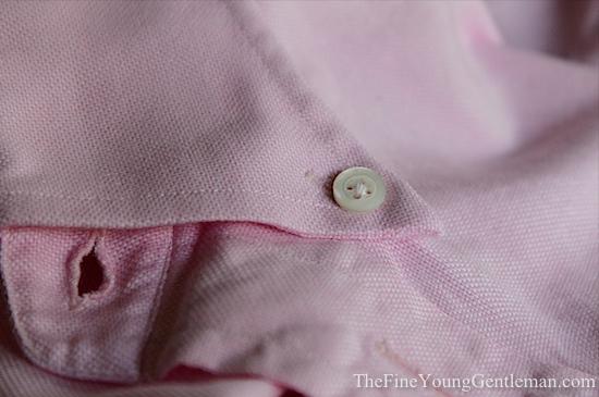 cotton work button down collar