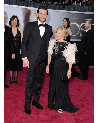 Bradley Cooper had yet another very strong showing on the red carpet.  I believe that is his Mom with him (which for the record I would bring my Mom too).  Legend.
