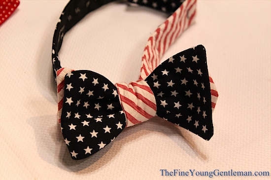 high cotton american flag bow tie