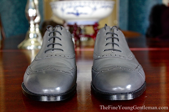 gray mens dress shoe