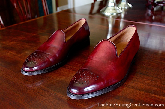 burgundy wholecut loafer