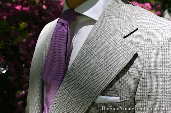 gray plaid tweed jacket