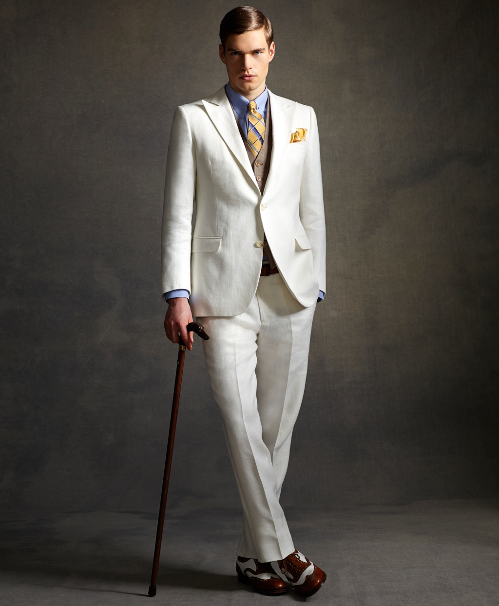 brooks brothers great gatsby ivory suit