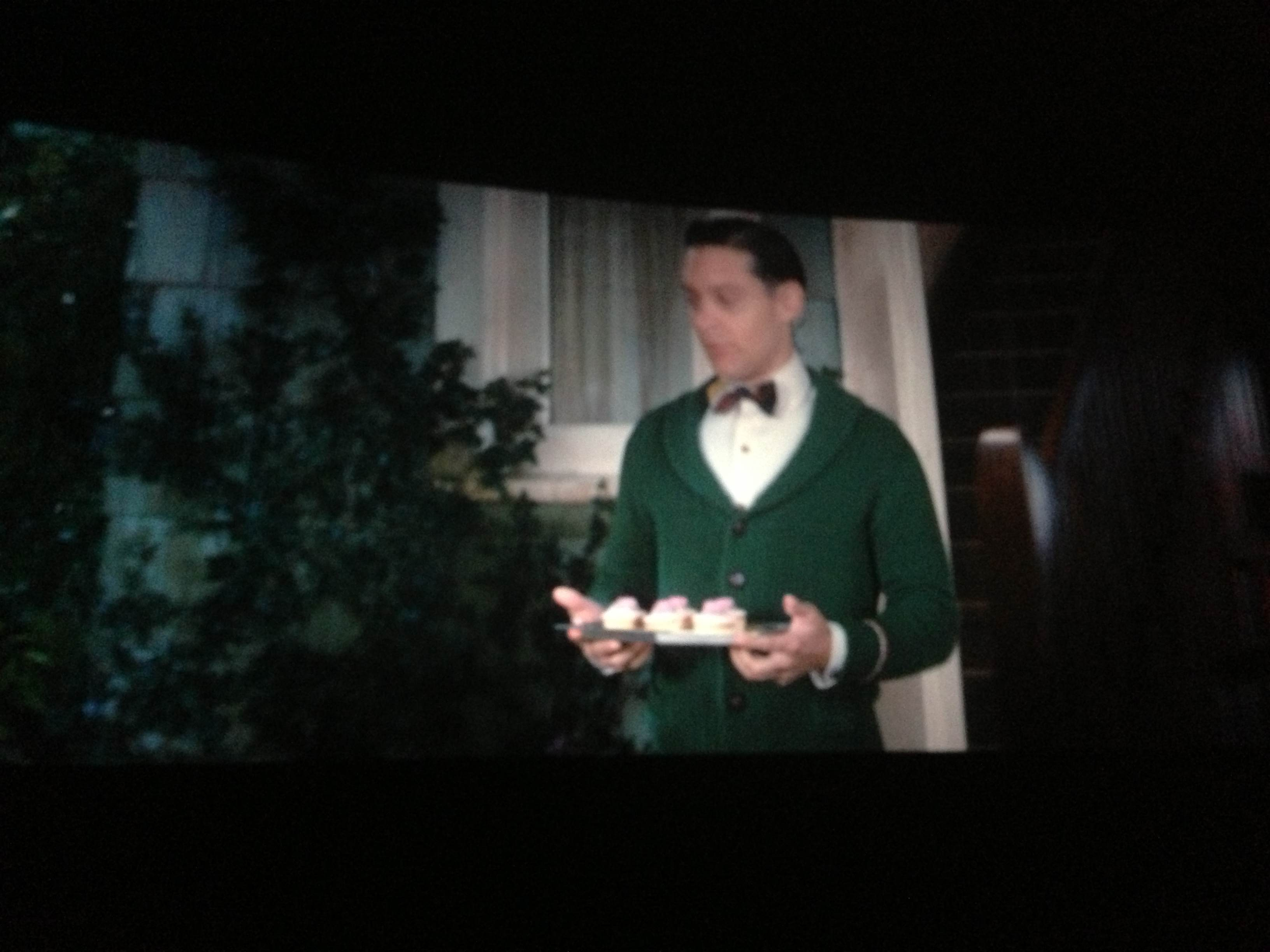 nick carraway green cardigan