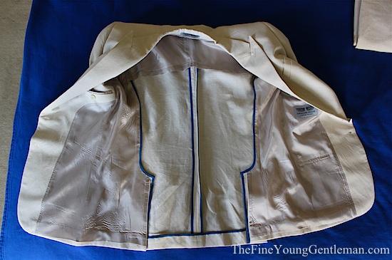half lined jacket