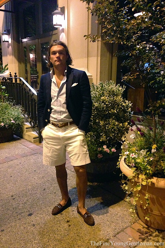 shorts with a blazer