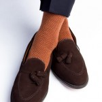 brown and orange dapper classics socks