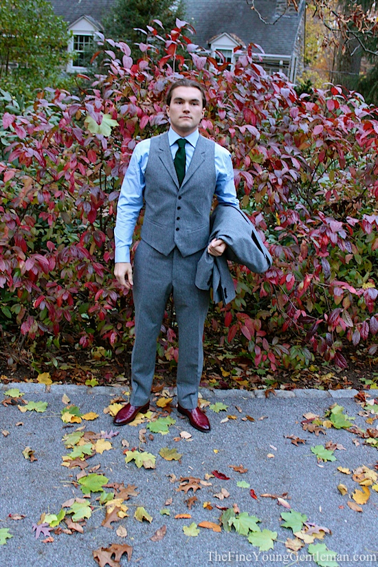 How to wear a three piece suit