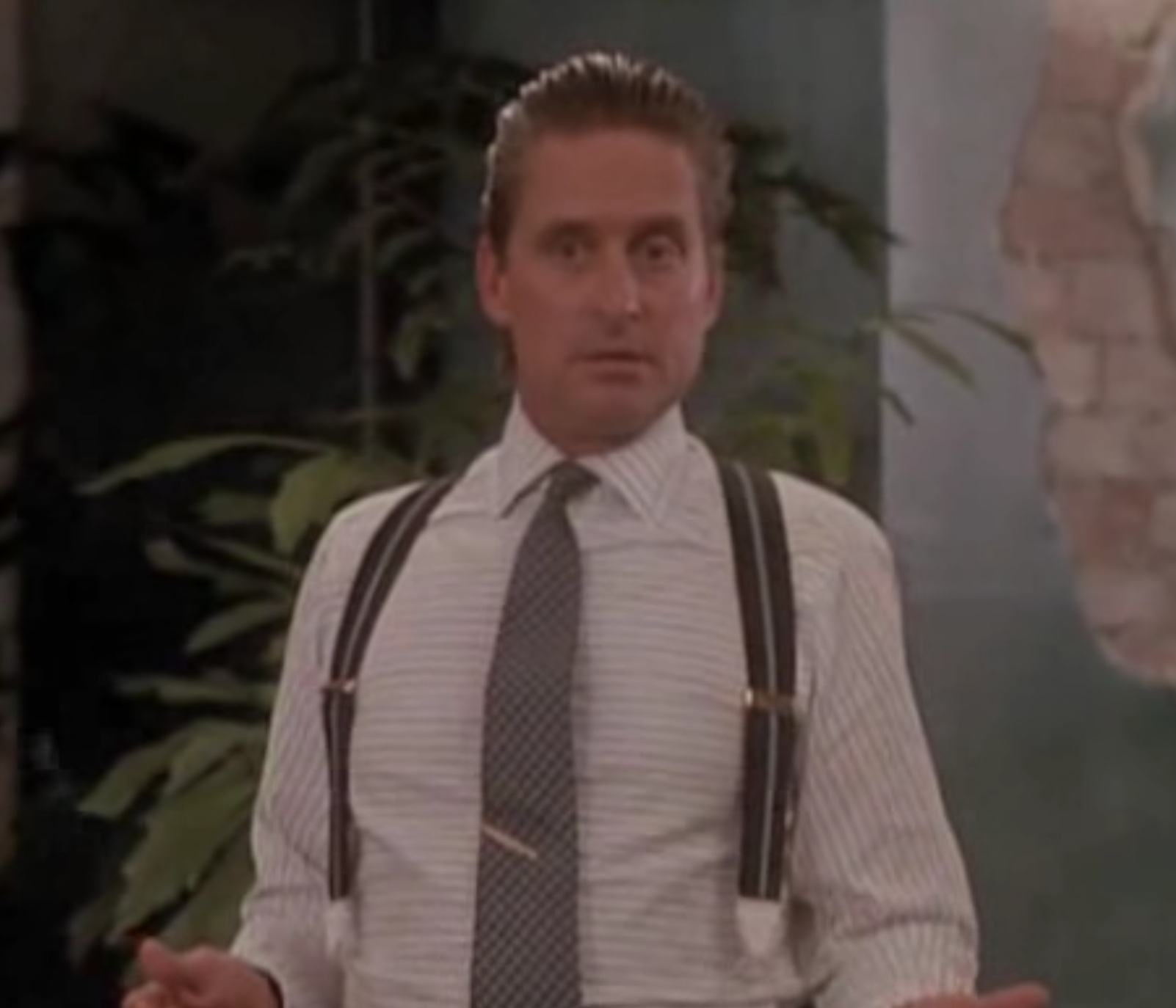 horizontal striped shirt gordon gekko