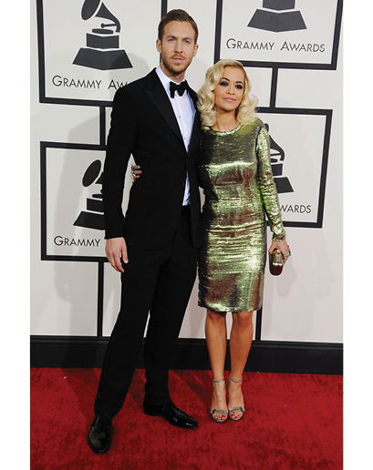 To be honest, I was surprised to see Calvin Harris in a tux.  But I am glad he kept things pretty traditional, minus that fact that he forgot to wear a cummerbund, which ruins his whole look.  But hey, at least I've had a great time at his shows...
