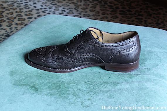 shoepassion deerskin wingtip shoe