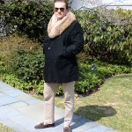 coyote fur collar mens jacket