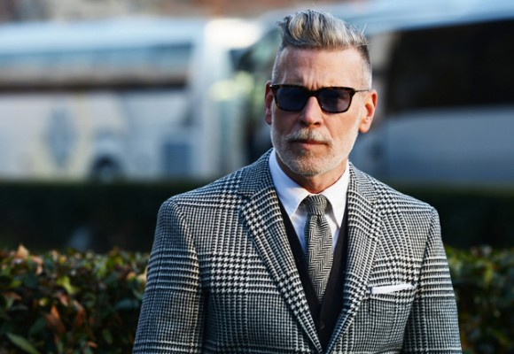 black and white plaid suit nick wooster