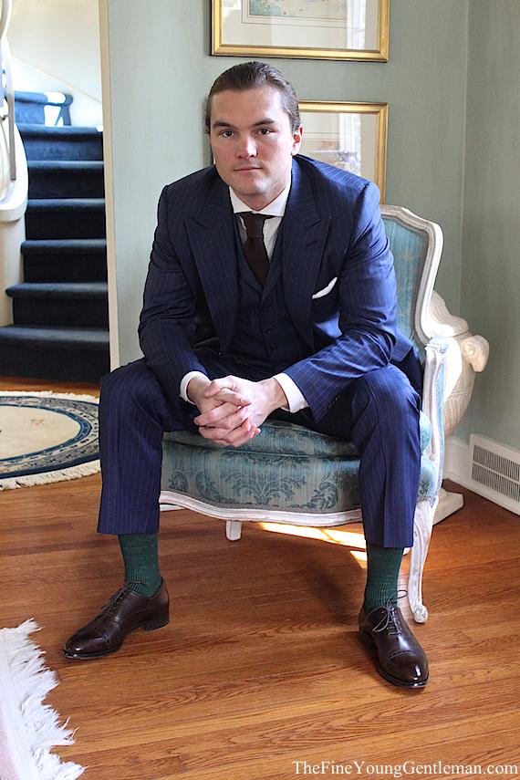 point click tailor 3 piece suit