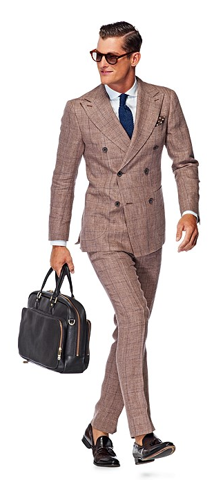 suitsupply madison brown suit
