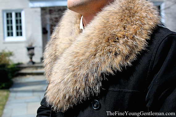 mens fur collared jacket