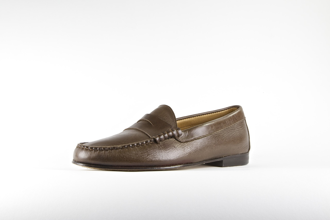 jay butler penny loafer brown full grain leather