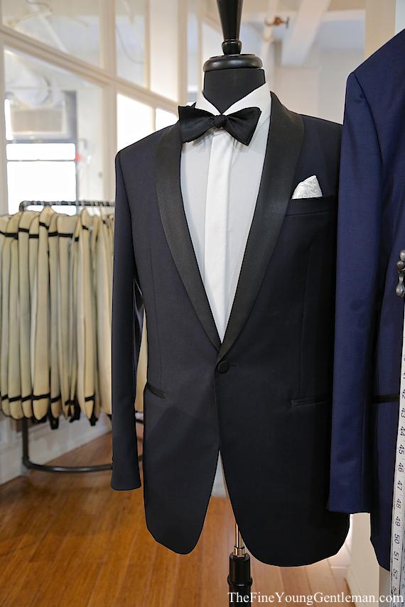 black lapel tux