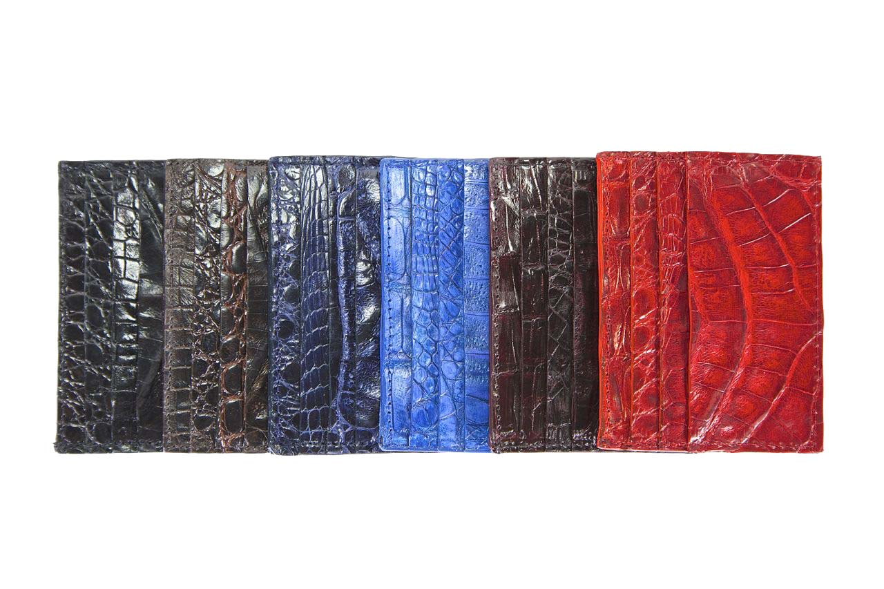 jay butler crocodile leather card case wallets