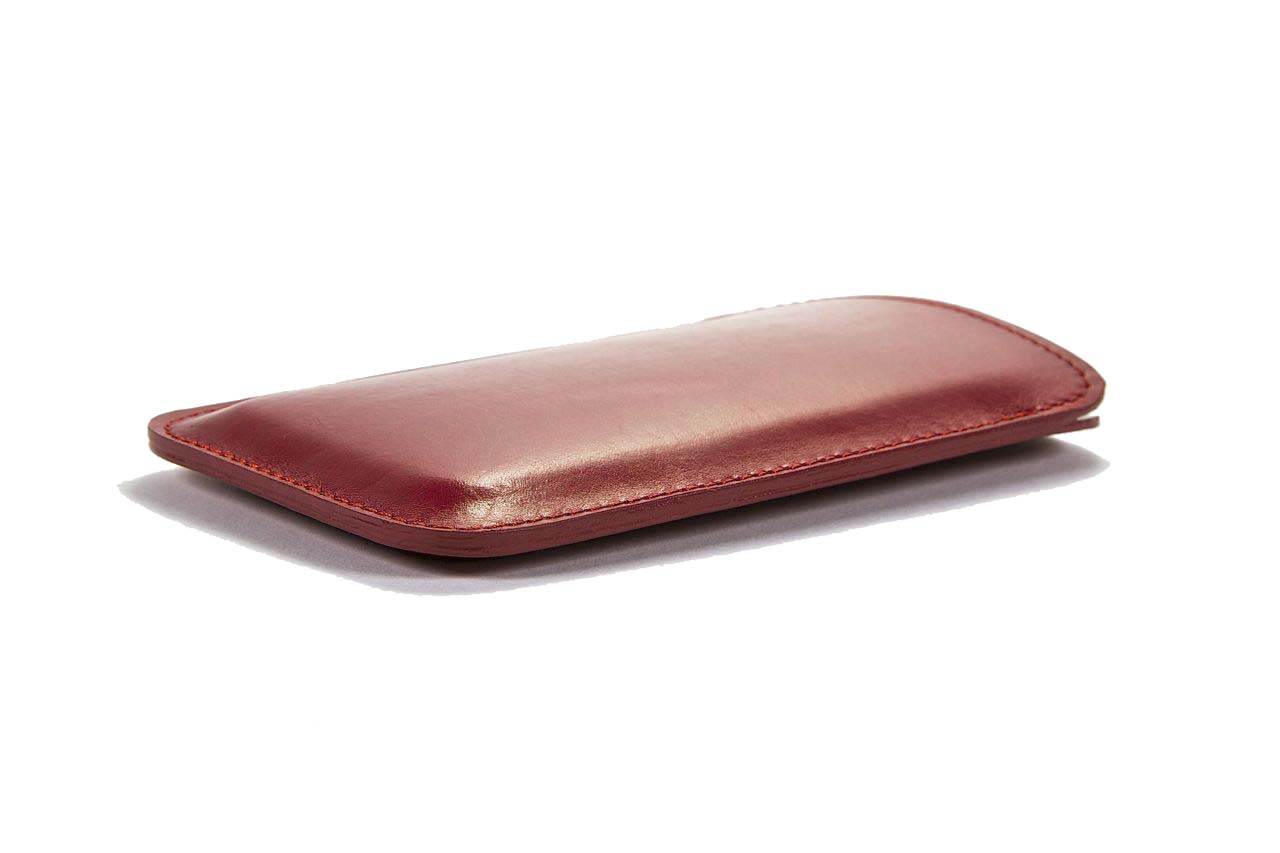 jay butler red calf leather iphone case