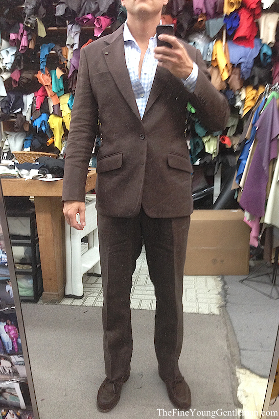 ravis custom suit before front