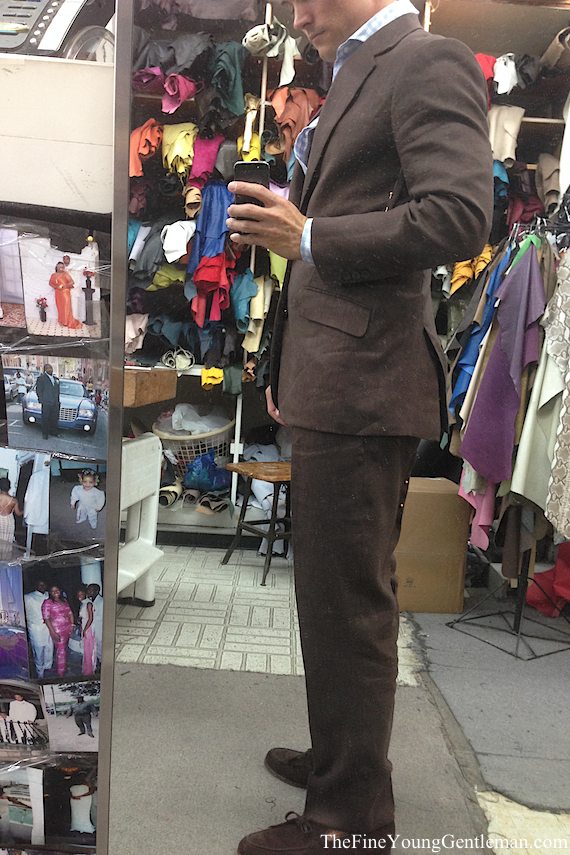 ravis custom suit before side