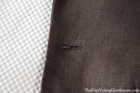 ravis custom suit buttonhole