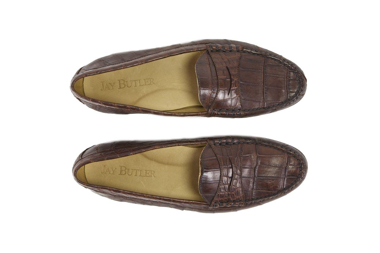 jay butler alligator leather penny loafer top