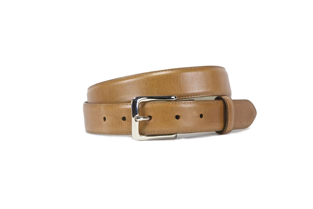 jay butler caramel full grain leather belt sample