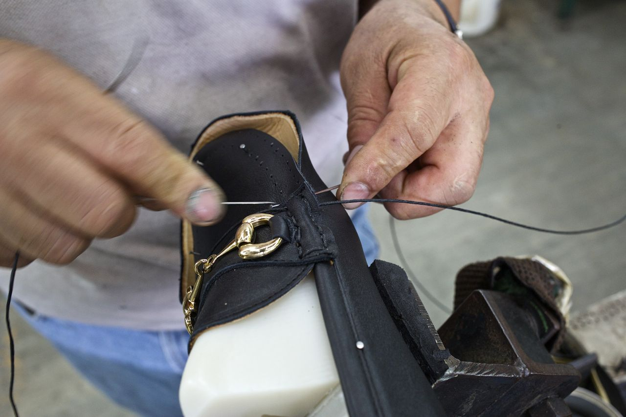 jay butler hand sewing on last