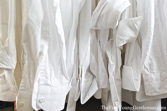 mens white dress shirt cuffs