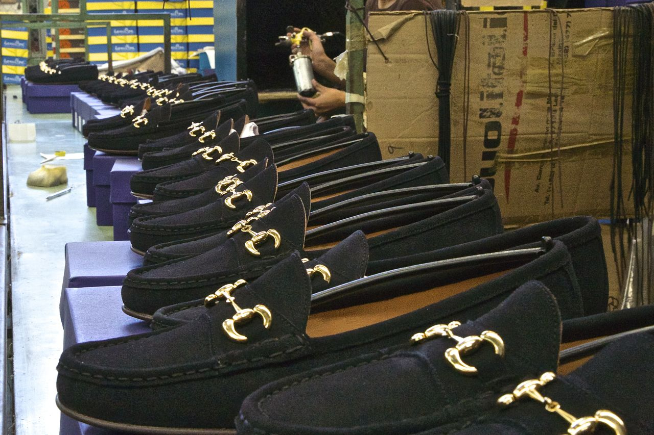 navy blue suede bit loafers in line factory - jay butler